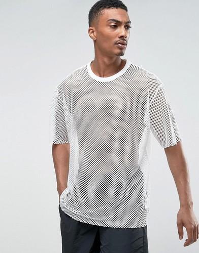 Сетчатая футболка Weekday - Белый