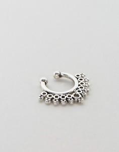 Кольцо для носа с декоративной отделкой ASOS - Серебряный