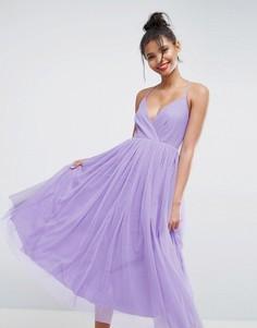 Платье миди из тюля ASOS - Фиолетовый