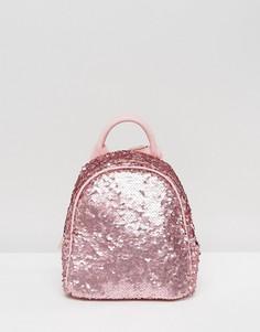Розовый мини-рюкзак с пайетками Skinnydip - Розовый
