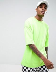 Зеленая свободная футболка с рукавами до локтя ASOS - Зеленый