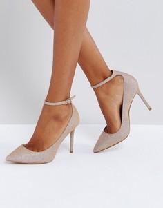 Блестящие туфли-лодочки с ремешком вокруг щиколотки KG by Kurt Geiger Estha - Розовый