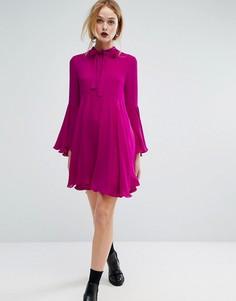 Платье с расклешенными рукавами Sportmax Code - Розовый