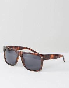 Квадратные солнцезащитные очки в черепаховой оправе Jeepers Peepers - Коричневый
