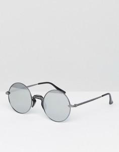 Круглые солнцезащитные очки с серебристыми стеклами Jeeper Peepers - Черный