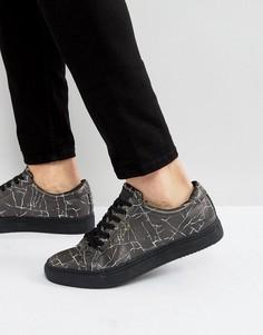 Черные кроссовки с принтом Religion - Черный