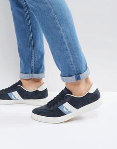 Темно-синие замшевые кроссовки Fred Perry B1 - Темно-синий