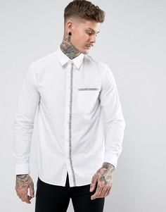 Белая рубашка классического кроя Love Moschino - Белый