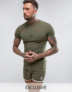 Зеленая облегающая футболка Puma эксклюзивно для ASOS - Зеленый