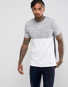 Фактурная футболка с контрастными вставками ASOS - Белый