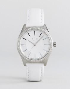 Часы с кожаным ремешком Armani Exchange Nicollete - Серебряный