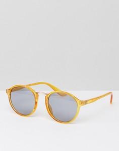 Круглые солнцезащитные очки 7X - Желтый