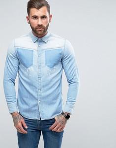 Рубашка с длинными рукавами и силуэтами карманов G-Star Modern Arc - Синий