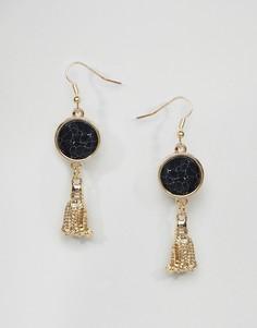 Серьги-подвески с камнями Ashiana - Золотой