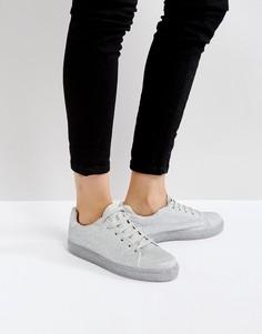 Кроссовки на шнуровке ASOS DREAMING - Серебряный