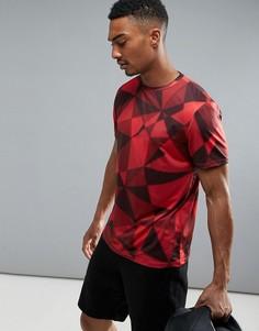 Красная футболка с геометрическим принтом New Look SPORT - Красный