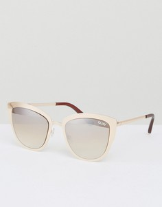 Солнцезащитные очки кошачий глаз Quay Australia Super Girl - Золотой