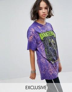 Фестивальная футболка с принтом Pantera Reclaimed Vintage Inspired - Фиолетовый