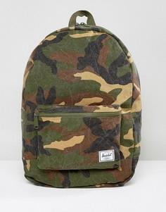 Складной хлопковый рюкзак объемом 24,5 литра с камуфляжным принтом Herschel Supply Co. - Зеленый