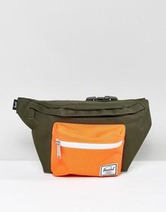 Зеленая сумка-кошелек на пояс Herschel Supply Co. Seventeen 5L - Зеленый