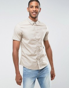 Оксфордская рубашка узкого кроя Burton Menswear - Светло-серый