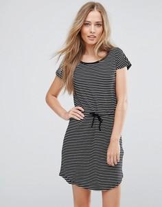 Платье с затягивающимся шнурком на талии Only May - Черный