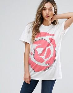 Oversize-футболка с принтом в стиле 90-х New Love Club - Белый