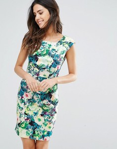 Платье с овальным вырезом и цветочным принтом Louche - Мульти