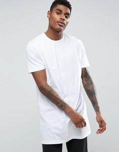 Длинная белая футболка ASOS - Белый