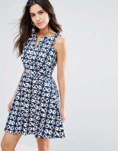 Платье с геометрическим принтом Louche Valeri - Синий