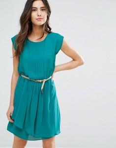 Платье с плиссировкой и поясом Louche Shari - Зеленый
