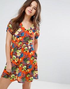 Платье с цветочным принтом Louche Dellana - Оранжевый