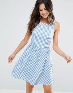 Платье в клеточку Louche Dustie - Синий