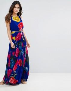 Платье макси с розами Louche Electra - Синий