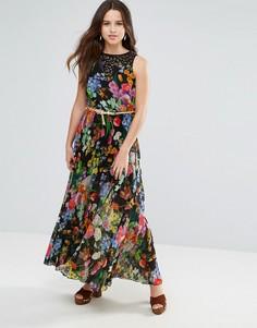 Платье макси с цветочным принтом Louche - Черный