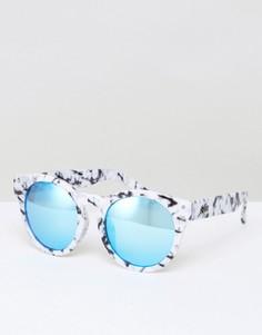Солнцезащитные очки кошачий глаз в мраморной оправе Quay Austrlia High Emotion - Белый