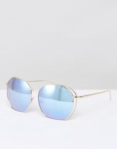 Большие солнцезащитные очки в стиле ретро Quay Australia Bae - Золотой