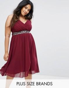 Платье с запахом Little Mistress Plus - Фиолетовый