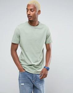 Длинная зеленая футболка ASOS - Зеленый