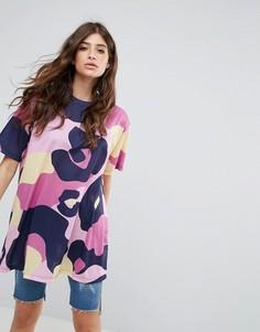 Oversize-футболка с ярким звериным принтом ASOS - Мульти