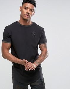 Черная обтягивающая футболка SikSilk - Черный