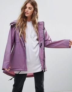 Короткий свободный дождевик из полиуретана Hunter - Фиолетовый