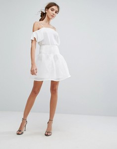 Юбка для выпускного с окантовкой Zibi London - Белый