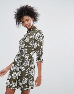 Платье-рубашка с принтом Urban Bliss Yvonne - Зеленый