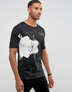 Oversize-футболка с принтом Jack & Jones Core - Черный