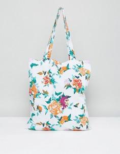 Пляжная сумка-тоут с цветочным принтом Vero Moda - Мульти