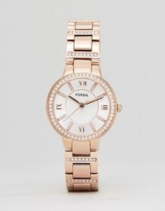 Наручные часы розово-золотистого цвета Fossil ES3284 - Золотой