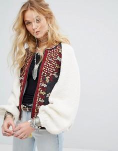 Куртка-oversize с вышивкой Free People - Белый