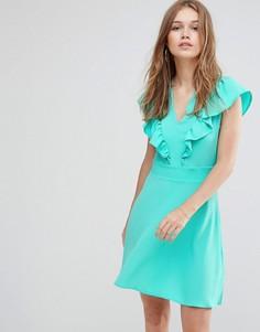Платье с оборкой Liquorish - Зеленый