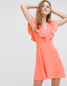 Платье с оборкой Liquorish - Оранжевый